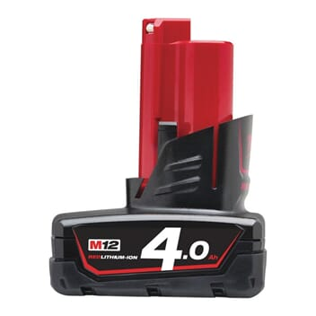MILWAUKEE M12 BATTERI 4,0 AH